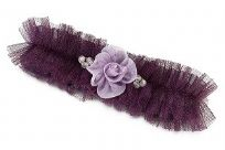 Plum Tulle Wedding Garter With Flower